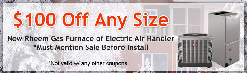 Save $100 when you let Appliance and Air Care install a new air handler!